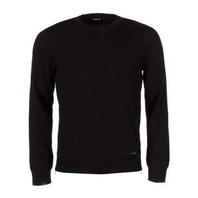 DSquared2 Black Crew Neck Zip Trim Sweatshirt
