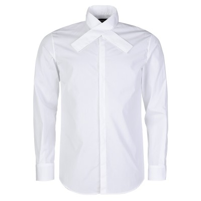 DSquared2 White Overlapping Collar Shirt