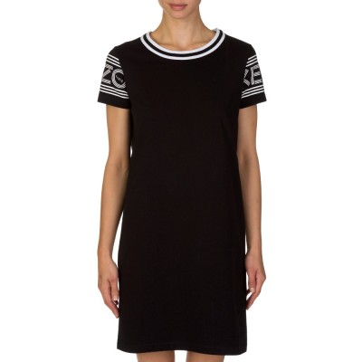 Kenzo Black Arm Logo T-Shirt Dress