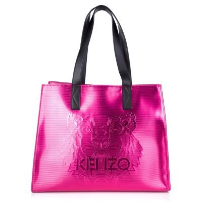 Kenzo Pink Metallic Tiger Tote Bag
