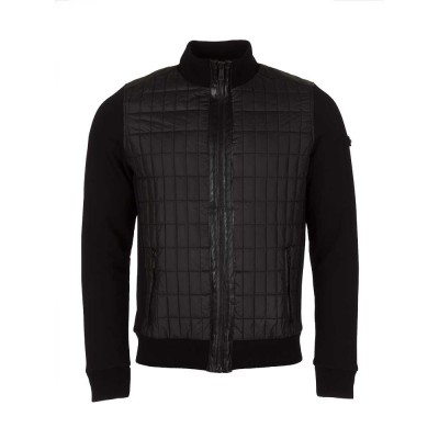 Lagerfeld Black Quilted Sweat Jacket