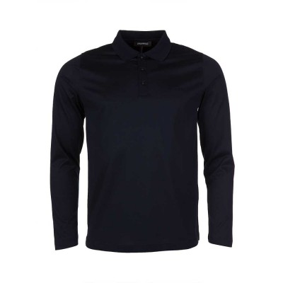 Lagerfeld Navy Mercerised Cotton Polo Shirt