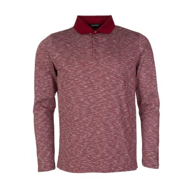 Lagerfeld Red Marl Long Sleeved Polo Shirt