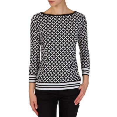 Michael Kors Black Patterned Top