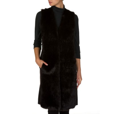 Michael Kors Black Faux Fur Gilet