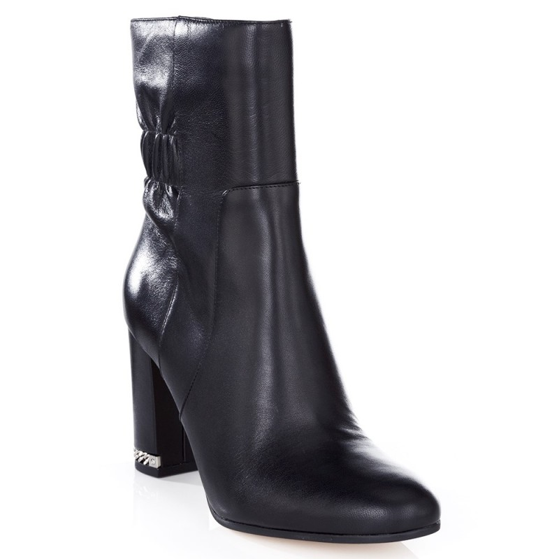 Michael Kors Black Mid Dolores Leather Boots