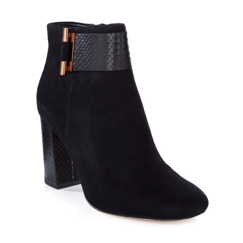 Michael Kors Black Suede Gloria Boot