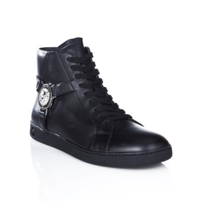 Versus Versace Black Lion Charm High Top Trainer