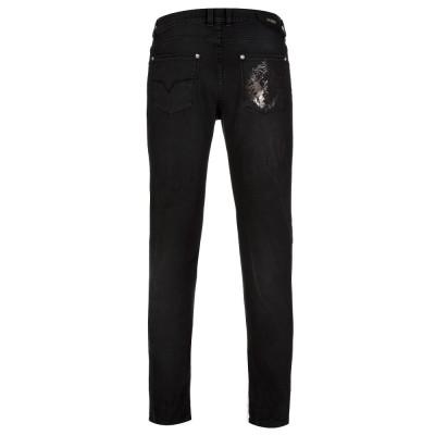 Versus Versace Black Skinny Frayed Jeans