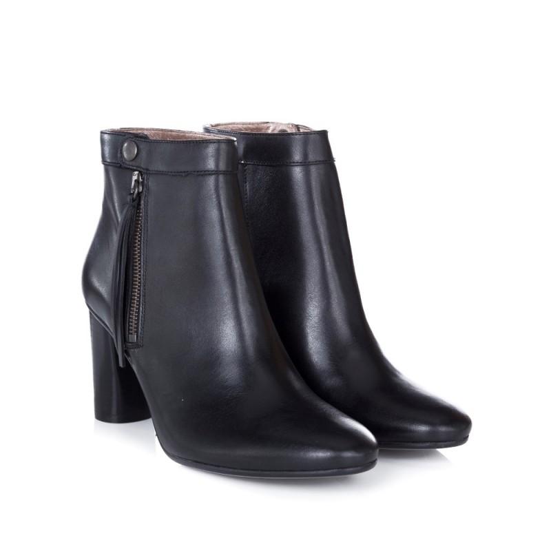 HUDSON BLACK MIMI HEELED BOOTS