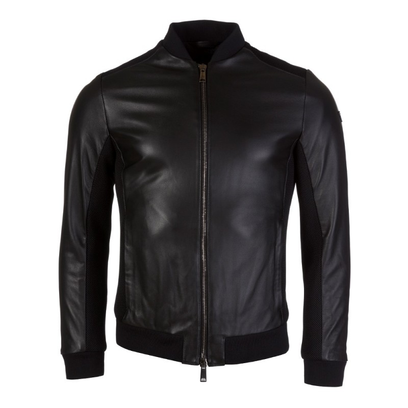 ARMANI JEANS LAMB LEATHER JACKET