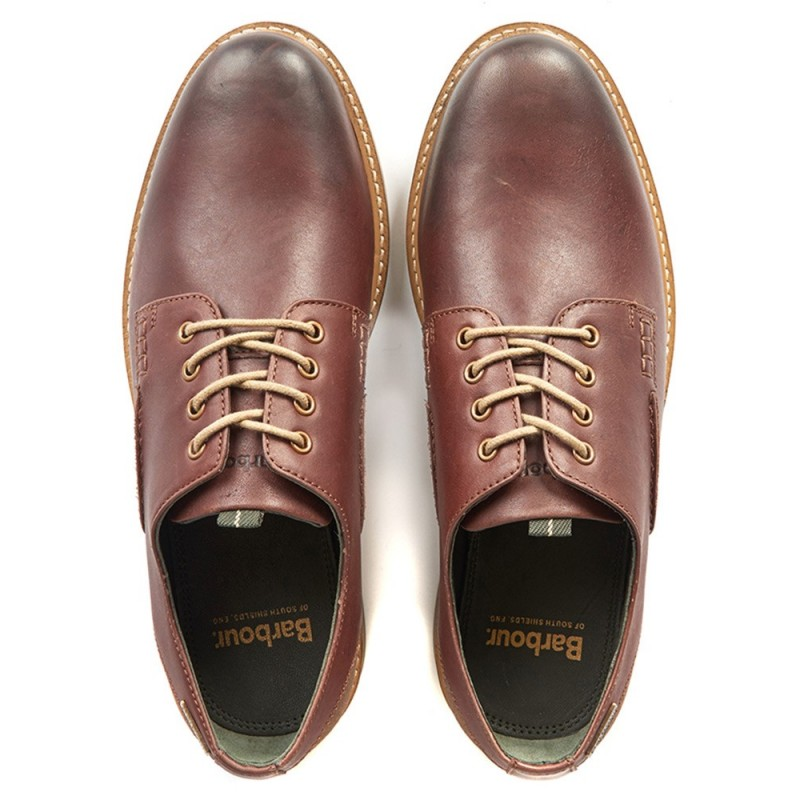 BARBOUR DARK BROWN BRAMLEY DERBY SHOES