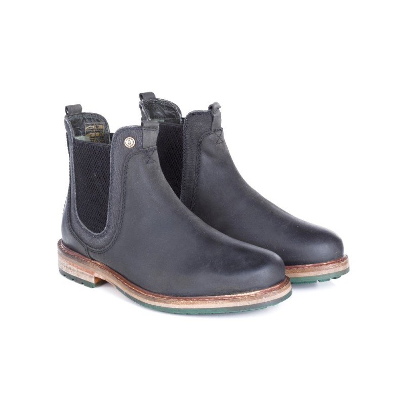 BARBOUR BLACK CULLERCOATS CHELSEA BOOTS