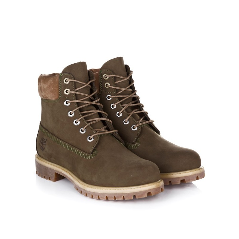 TIMBERLAND OLIVE GREEN WATERPROOF PREMIUM BOOT