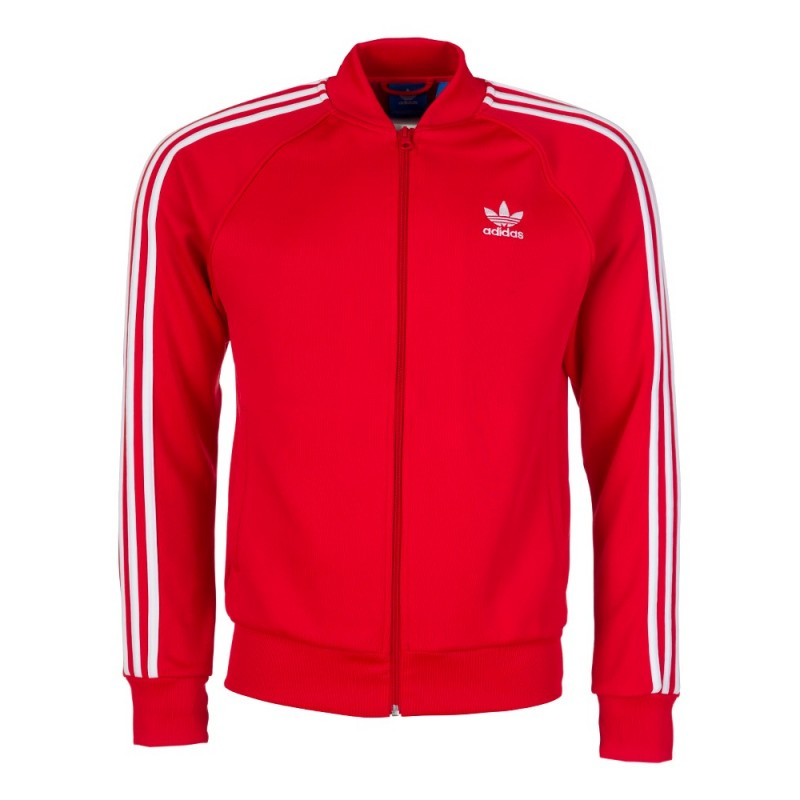 Adidas Red Superstar Zip Up Tracksuit Jacket