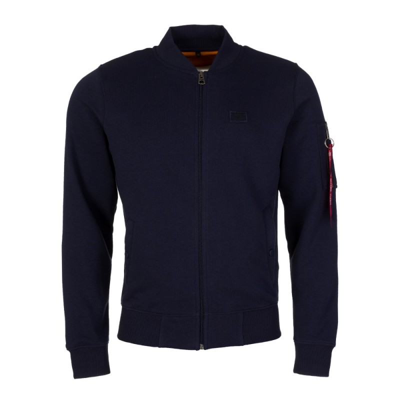 Alpha Industries Navy MA-1 Zip Up Sweatshirt