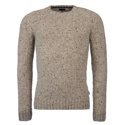 Barbour International Beige Netherby Crew Neck Jumper