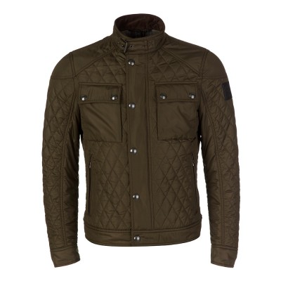 Belstaff Olive Green Racemaster Quilted Jacket
