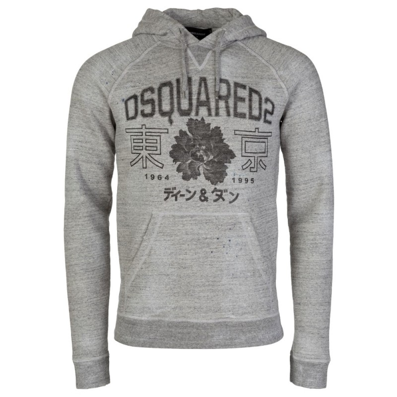 DSquared2 Grey Logo Hoody