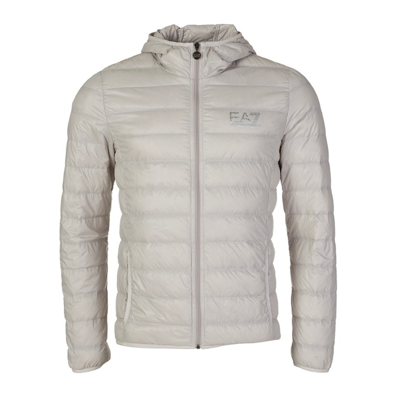 Emporio Armani EA7 Grey Pack Hooded Puffa Jacket