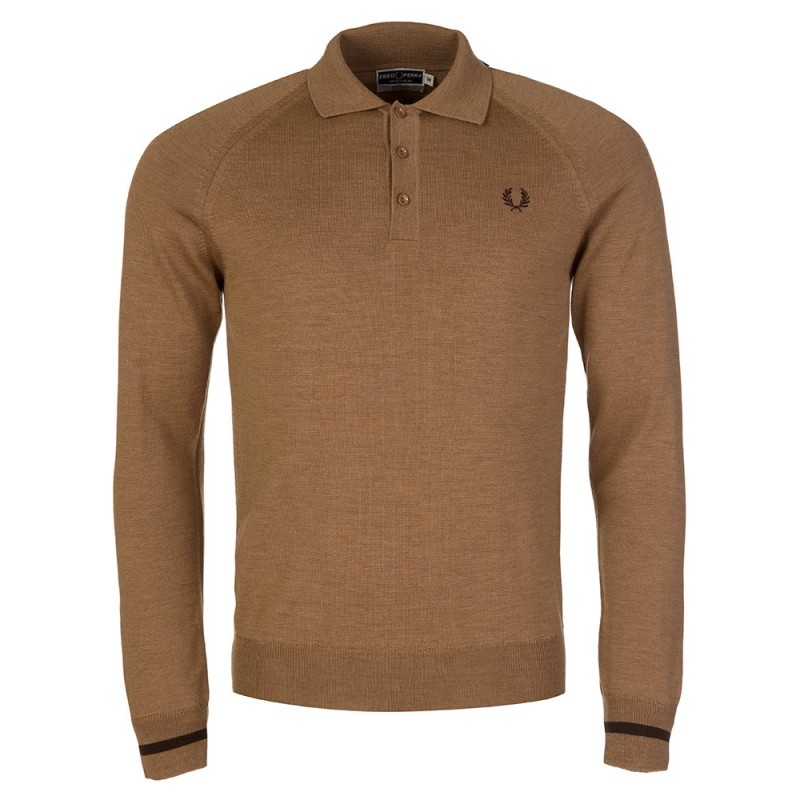 Fred Perry Beige Logo Polo Shirt
