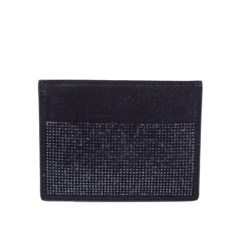 Giuseppe Zanotti Black Bling Credit Card Holder