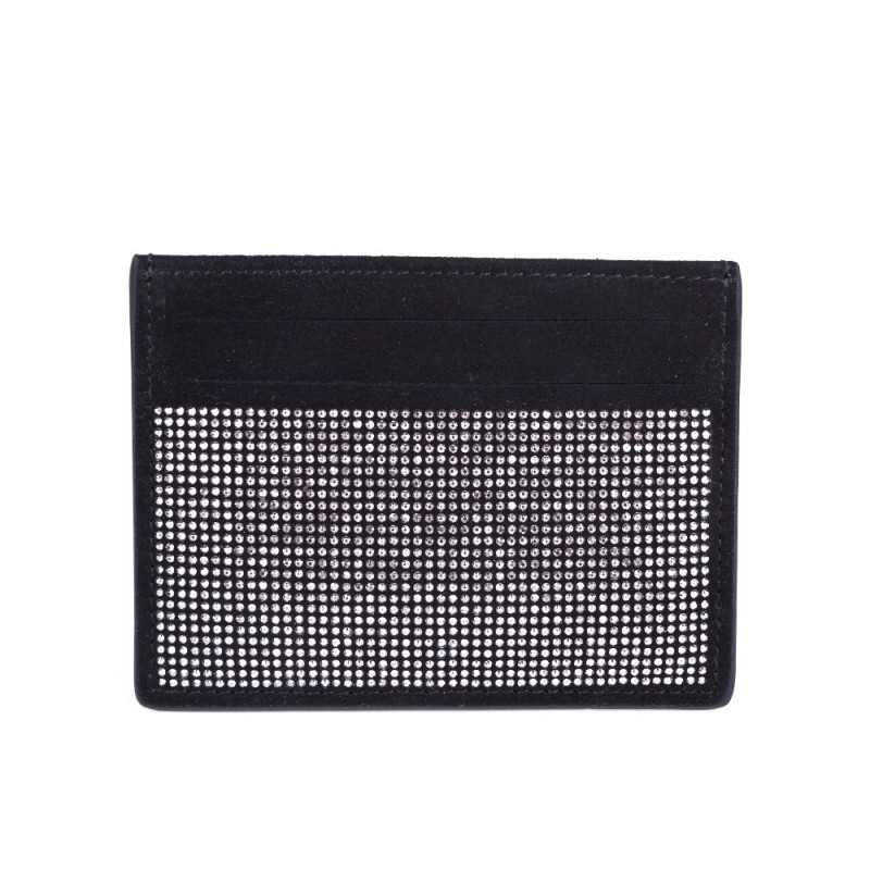 Giuseppe Zanotti Black Silver Bling Card Holder