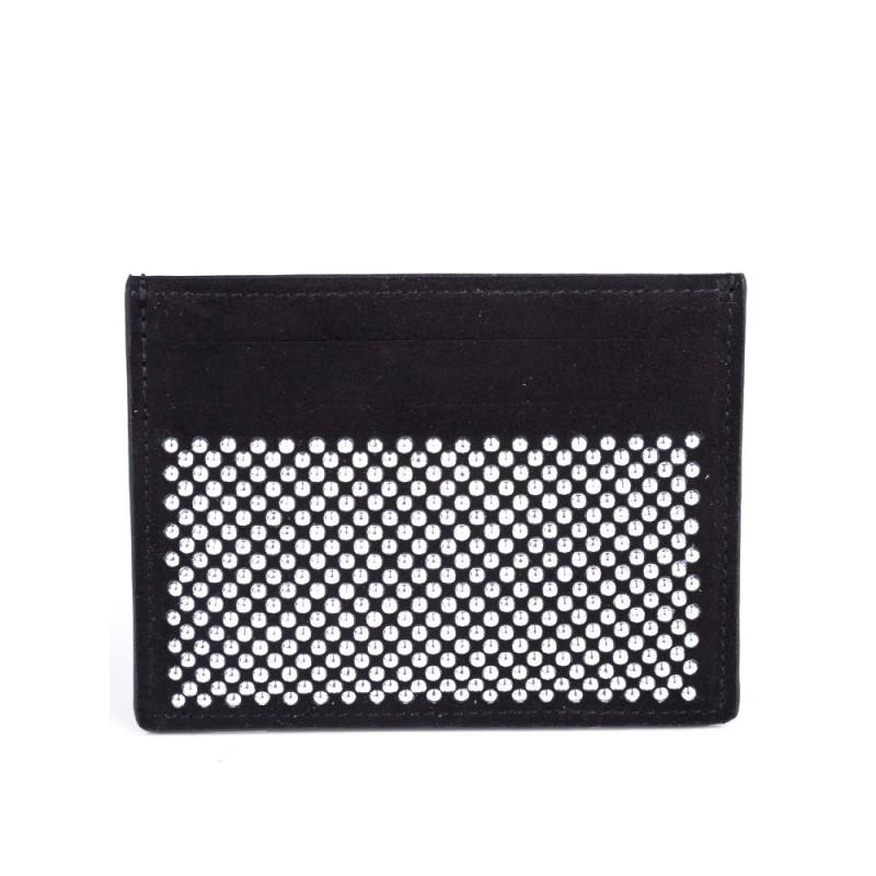 Giuseppe Zanotti Black Silver Studded Card Holder