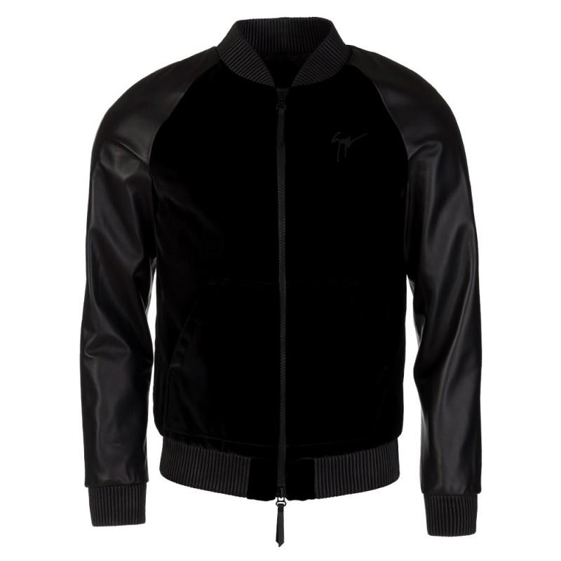 Giuseppe Zanotti Black Velvet Bomber Jacket