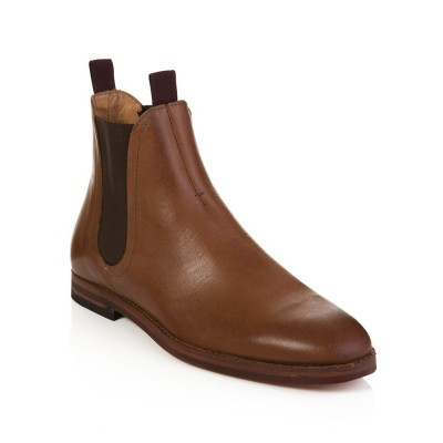 Hudson Tan Leather Tamper Chelsea Boot