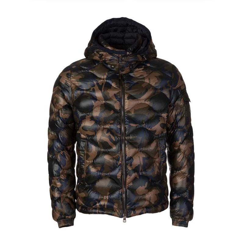 Moncler Military Green Camouflage Morandieres Coat
