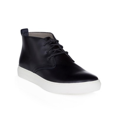 Paul Smith Navy Fong Leather Chukka Boots