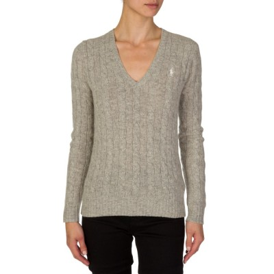 Polo Ralph Lauren Grey Cable Knit Jumper