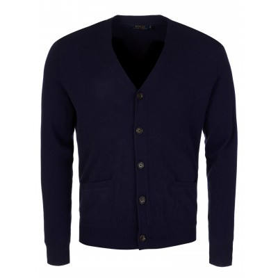 Polo Ralph Lauren Navy Luxury Merino Wool Cardigan