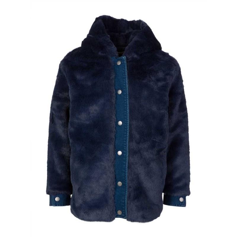 Stella McCartney Kids Blue Faux Fur Jacket
