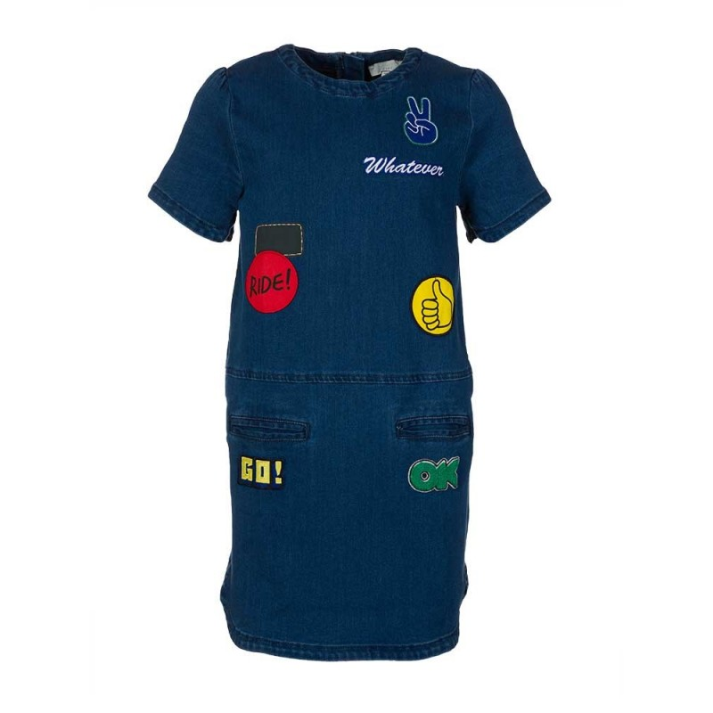Stella McCartney Kids Denim Badge Dress