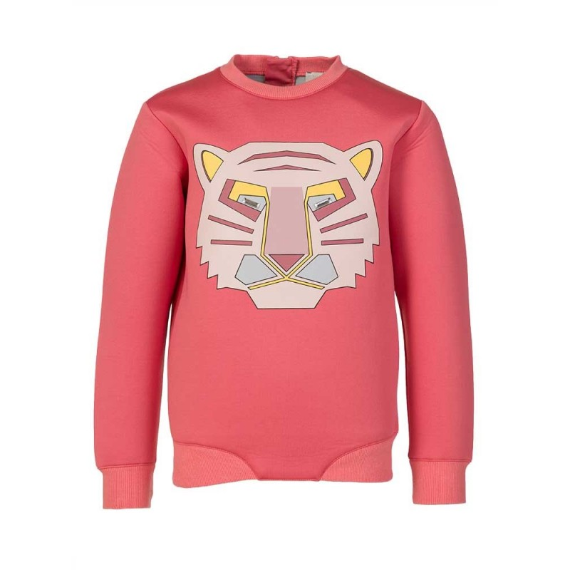 Stella McCartney Kids Pink Neoprene Tiger Sweatshirt