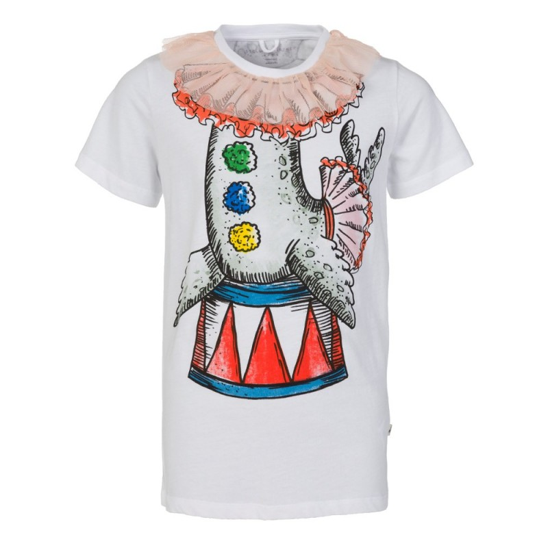 Stella McCartney Kids White Arlow Seal T-Shirt