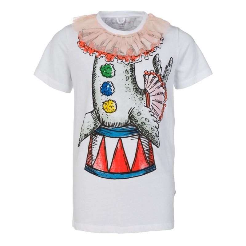 Stella McCartney Kids White Arlow Seal T-Shirt