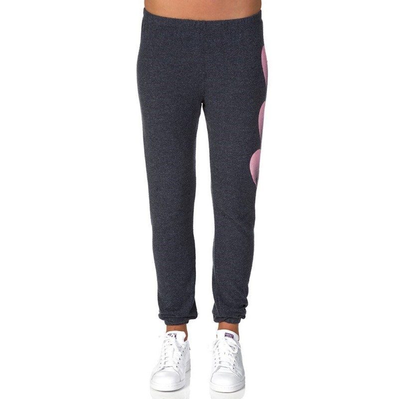 Wildfox Blue Faded Heart Sweatpants