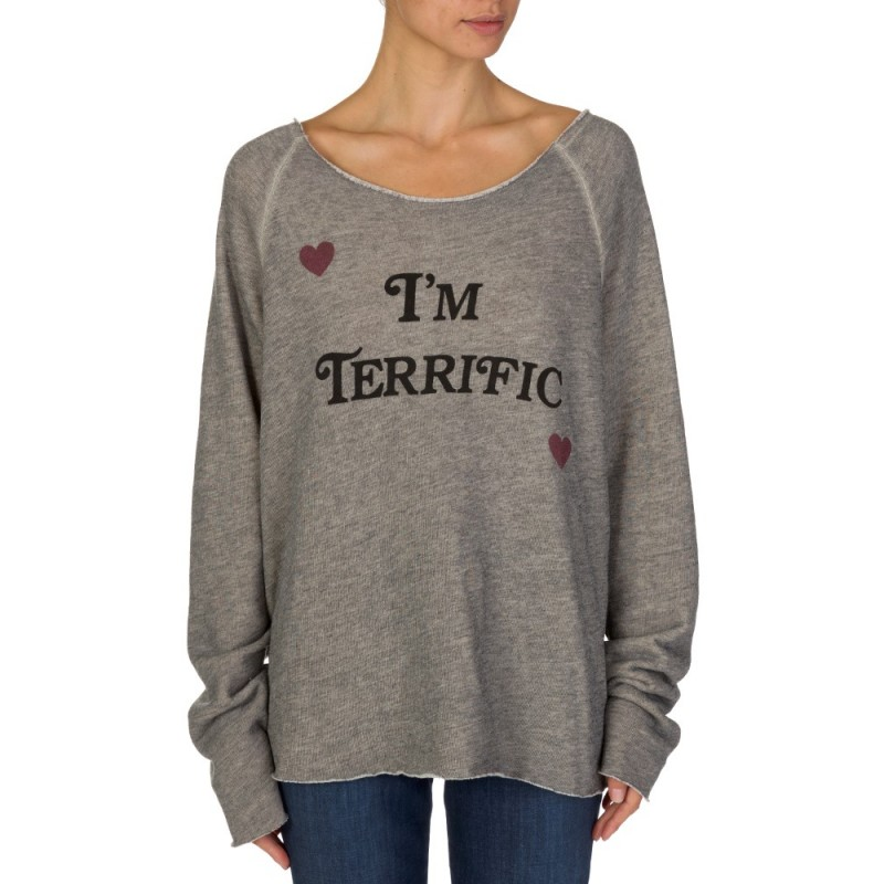 Wildfox Grey I'm Terrific Sweatshirt