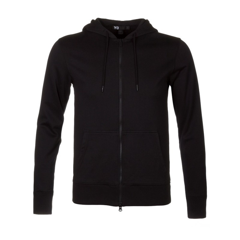 Y-3 Black Zip Through Hoodie