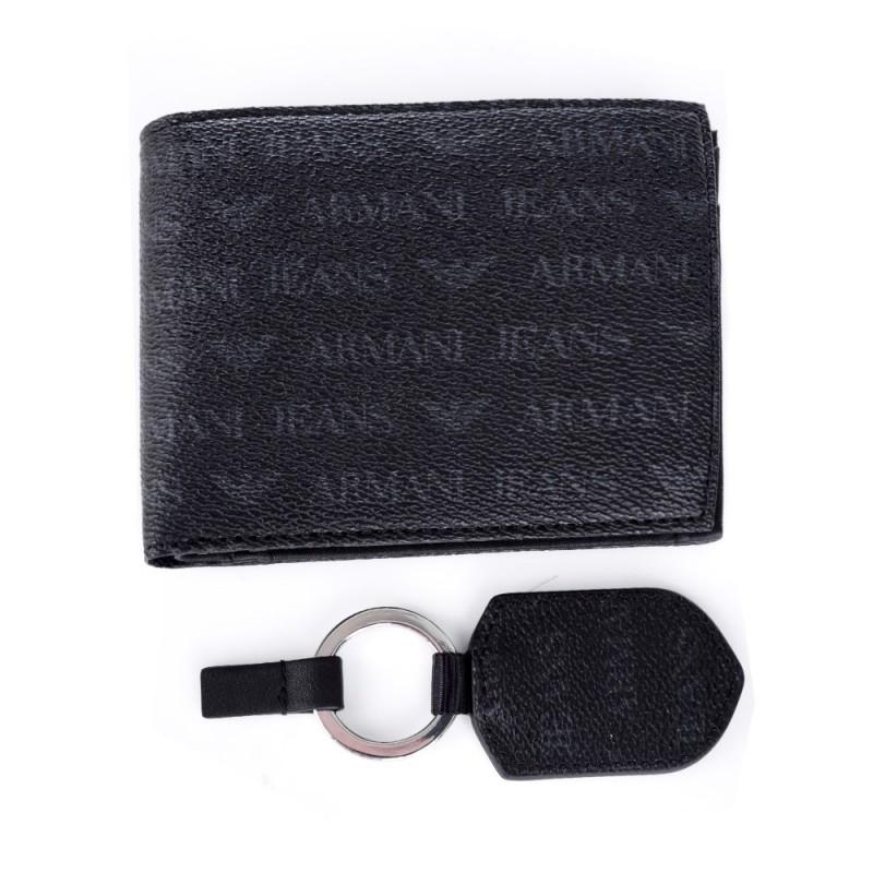 armani-jeans-black-logo-wallet