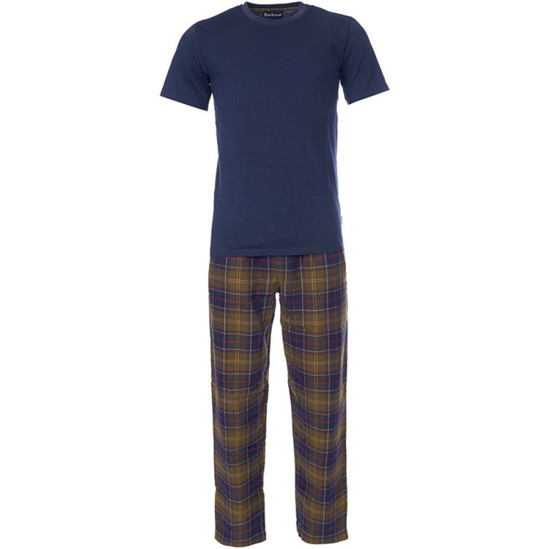 barbour-blue-t-shirt-pyjama-set