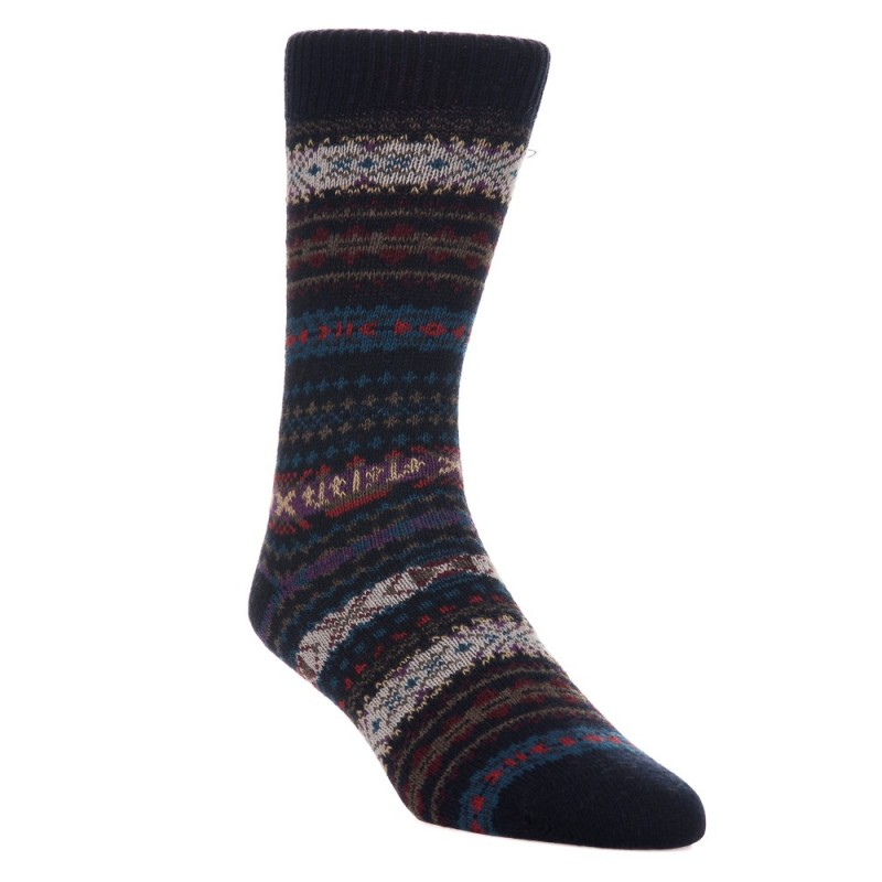 Barbour Navy Knitted Boyd Socks