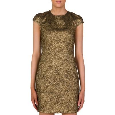 Diane Von Furstenberg Gold Hadlie Two Mini Dress