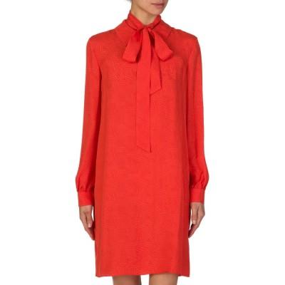 DVF Orange Belted Dress