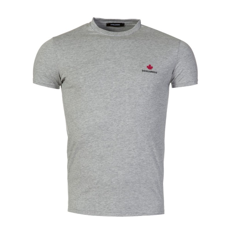 DSquared2 Grey Crew Neck Maple Logo T-Shirt