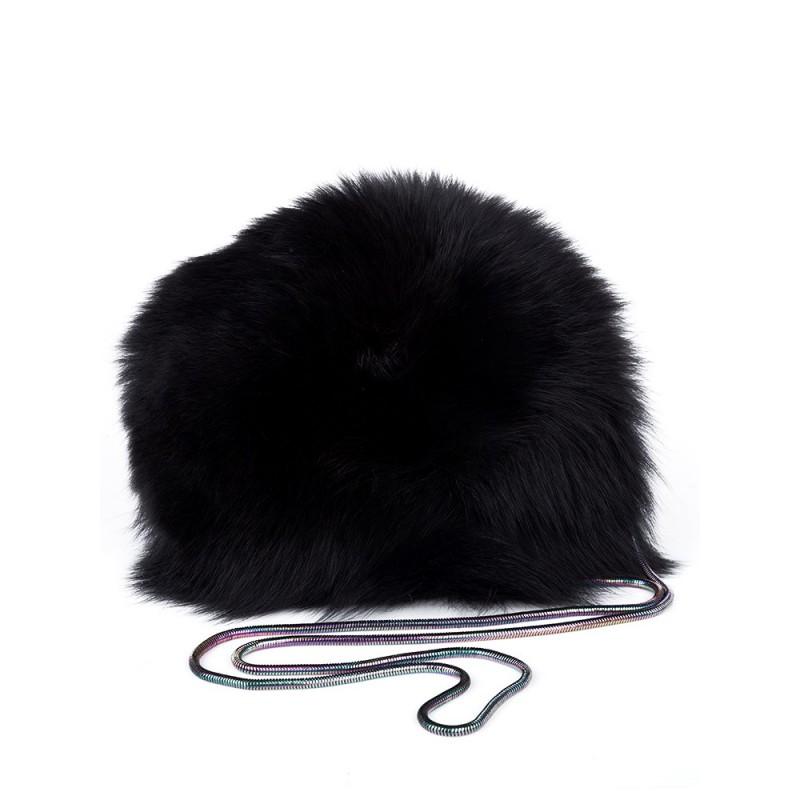 Diane Von Furstenberg Black Pom Pom Bag