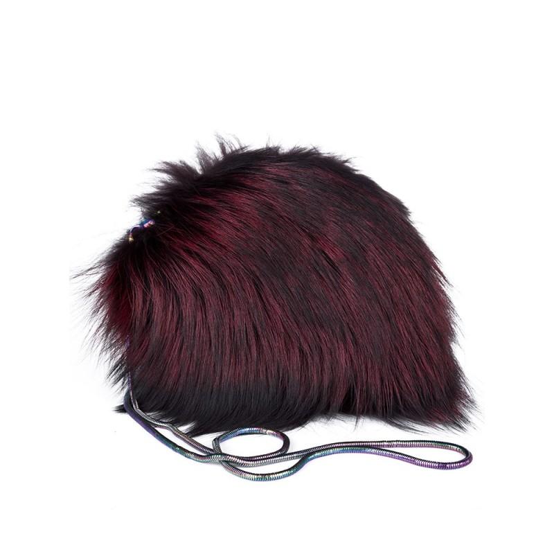 Diane Von Furstenberg Burgundy Pom Pom Bag
